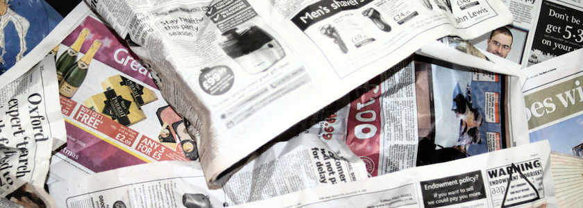 Dry Shoes with Newspaper